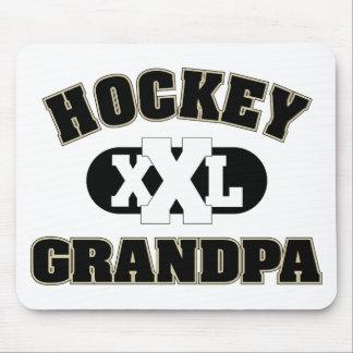 Abuelo del hockey alfombrillas de raton