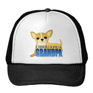Abuelo del perro de la chihuahua gorras de camionero