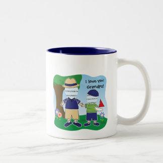Abuelo del personalizable te amo tazas