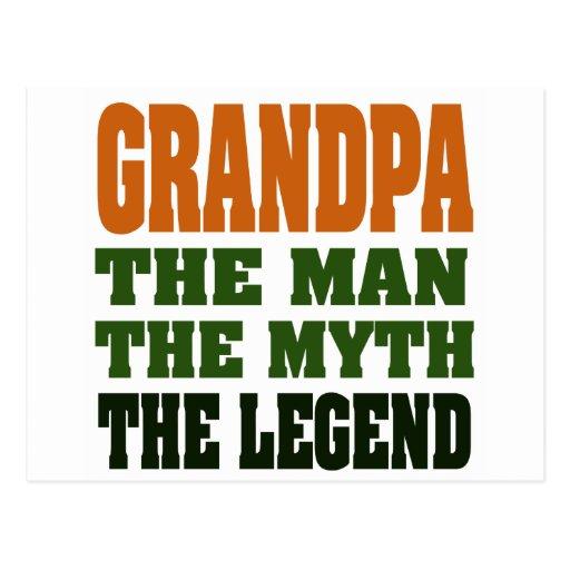 ¡Abuelo - el hombre, el mito, la leyenda! Postal