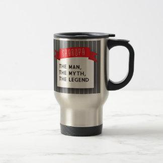 Abuelo - el hombre, el mito, la leyenda taza de viaje de acero inoxidable