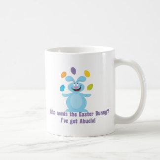 Abuelo es mi conejito de pascua taza de café