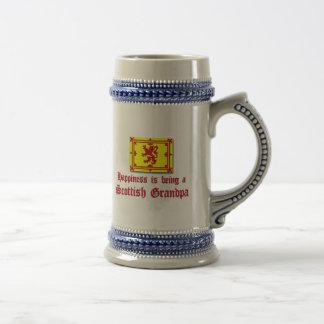 Abuelo escocés feliz tazas de café