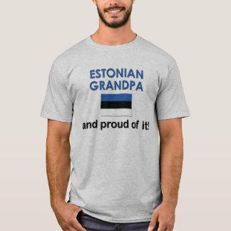 Abuelo estonio orgulloso playera
