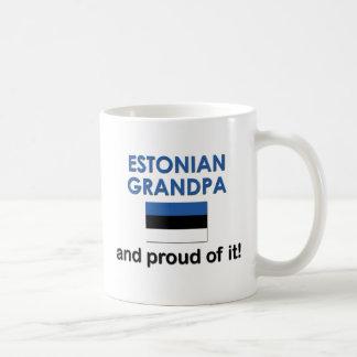 Abuelo estonio orgulloso taza de café