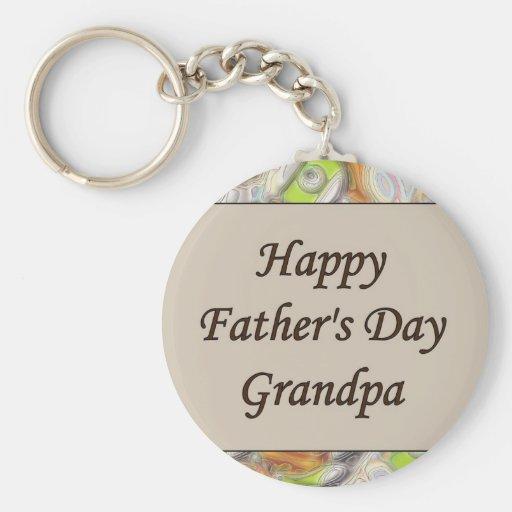 Abuelo feliz del día de padre llavero