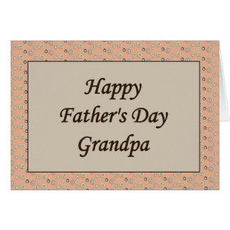 Abuelo feliz del día de padre tarjeta de felicitación