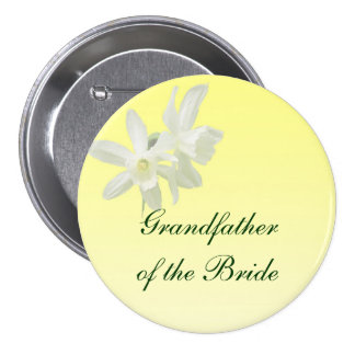 Abuelo floral amarillo del boda del Pin de la novi Pin Redondo 7 Cm