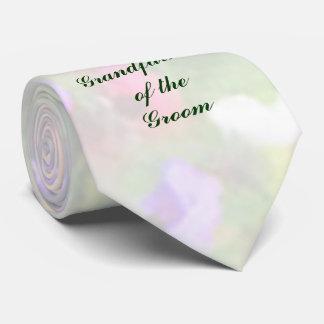 Abuelo floral de las impresiones del lazo del corbatas personalizadas