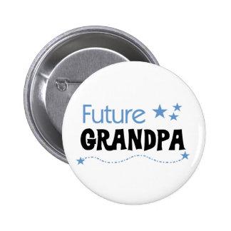 Abuelo futuro pin redondo de 2 pulgadas