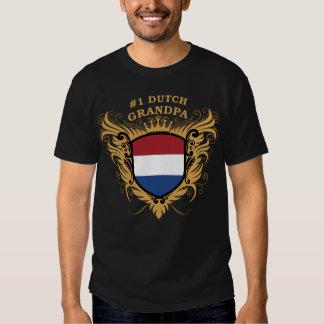 Abuelo holandés del número uno remeras