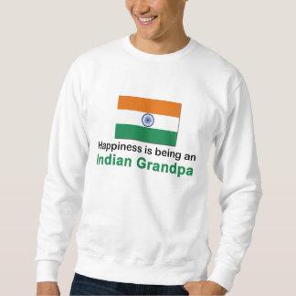 Abuelo indio feliz sudadera
