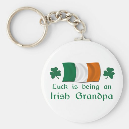 Abuelo irlandés afortunado llavero redondo tipo pin