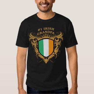 Abuelo irlandés del número uno remera