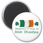 Abuelo irlandés feliz iman de nevera