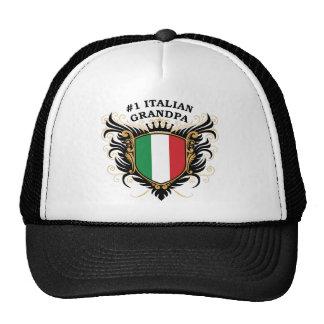 Abuelo italiano del número uno gorros