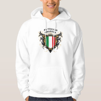 Abuelo italiano del número uno sudadera con capucha