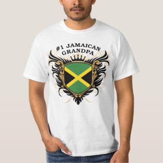 Abuelo jamaicano del número uno playera