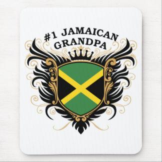 Abuelo jamaicano del número uno alfombrilla de raton