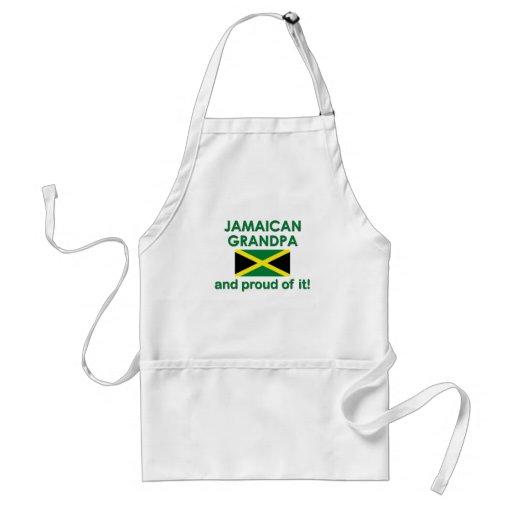 Abuelo jamaicano orgulloso delantal