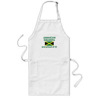 Abuelo jamaicano orgulloso delantal largo