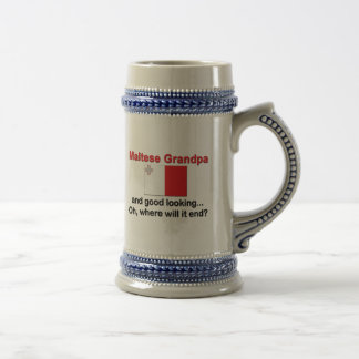 Abuelo maltés apuesto taza de café