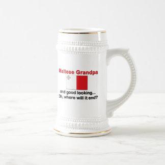 Abuelo maltés apuesto tazas de café