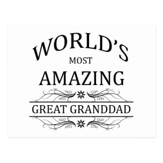 Abuelo más asombroso del mundo el gran tarjetas postales