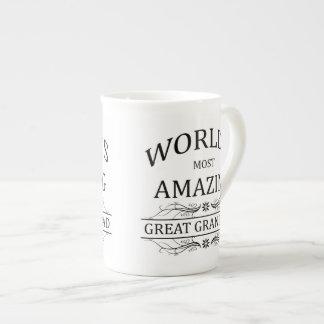 Abuelo más asombroso del mundo el gran taza de porcelana
