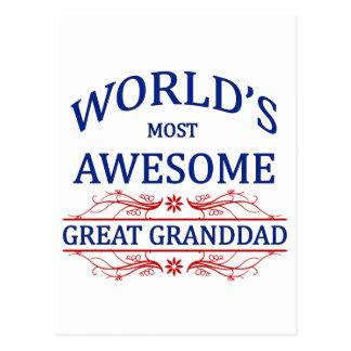 Abuelo más impresionante del mundo el gran postal
