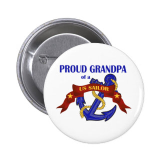 Abuelo orgulloso de un marinero de los E.E.U.U. Pin Redondo De 2 Pulgadas