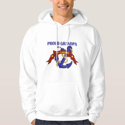 Abuelo orgulloso de un marinero de los E.E.U.U. Pulóver Con Capucha