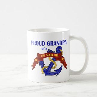 Abuelo orgulloso de un marinero de los E.E.U.U. Taza De Café