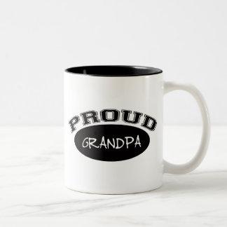 Abuelo orgulloso (negro) taza de café