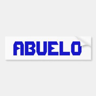 """ABUELO"" Pegatina para el parachoques Bumper Sticker"