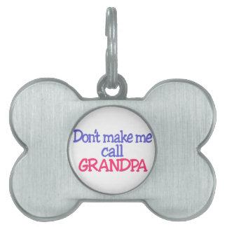 Abuelo Placas De Mascota