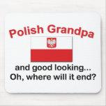 Abuelo polaco apuesto alfombrilla de ratón