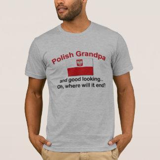 Abuelo polaco apuesto playera