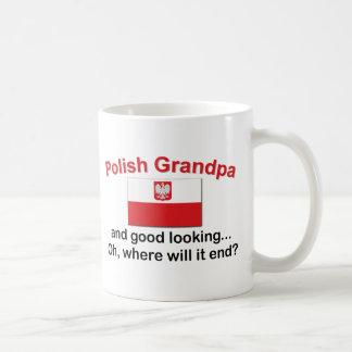 Abuelo polaco apuesto taza