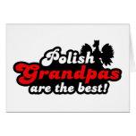 Abuelo polaco tarjeta de felicitación