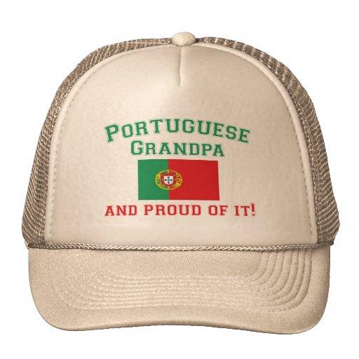 Abuelo portugués orgulloso gorros