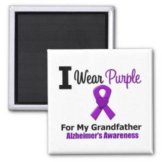 Abuelo púrpura de la cinta de la enfermedad de Alz Imán Cuadrado