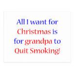 Abuelo que fuma abandonado postal