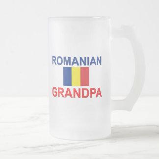 Abuelo rumano jarra de cerveza esmerilada