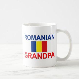 Abuelo rumano taza básica blanca