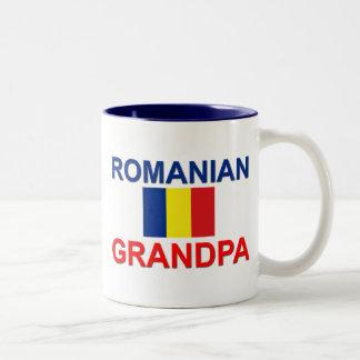 Abuelo rumano taza de café de dos colores