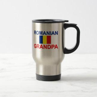 Abuelo rumano taza de viaje de acero inoxidable