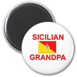 Abuelo siciliano imán redondo 5 cm