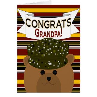 ¡Abuelo - soldado Congrats del ejército! Tarjeta De Felicitación