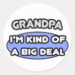 Abuelo… soy un poco una gran cosa pegatinas redondas